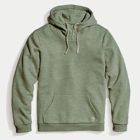 Marine Layer Cowlneck Hoodie Agave Green