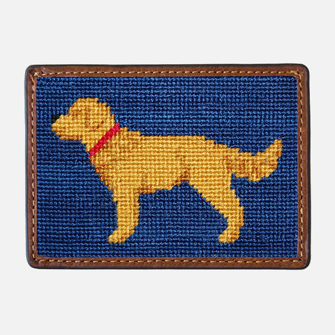 Smathers & Branson Golden Retriever Needlepoint Card Wallet