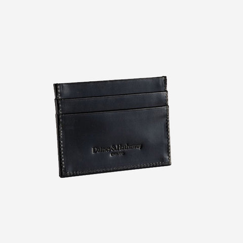 Daines & Hathaway Double Card Case - Bridle Black