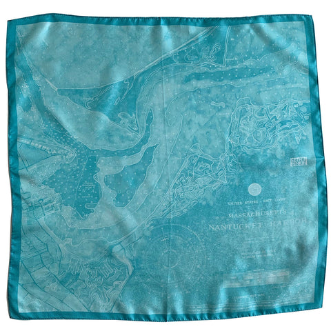 Seth B Minkin Nantucket Harbor Pocket Square ACKQUA