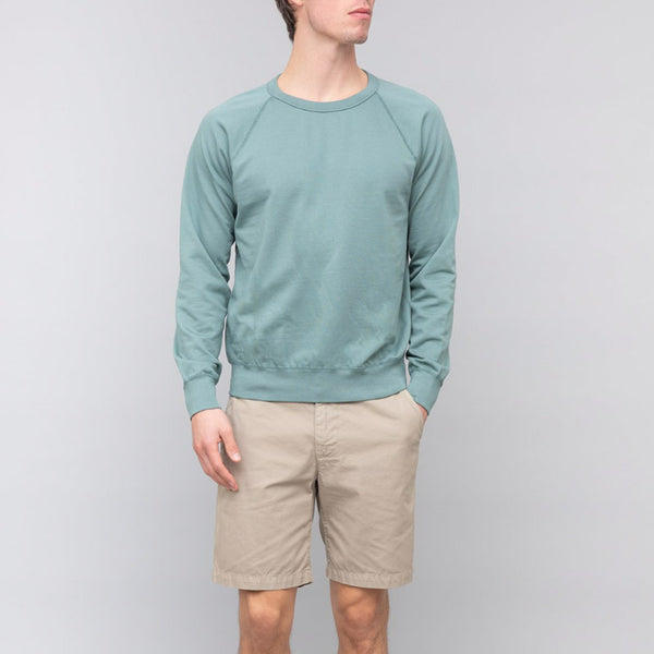 Save Khaki United Long Sleeve Supima Crew Sweatshirt Aspen