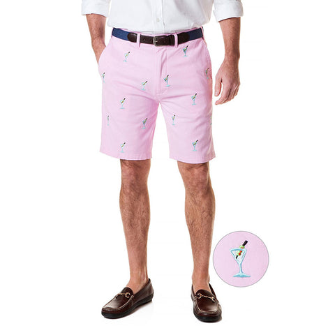 Castaway Cisco Short Stretch Twill Pink with Martini