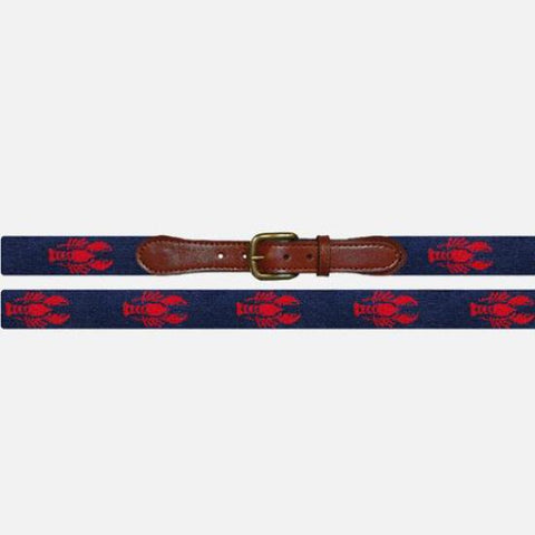Smathers & Branson Lobster Needlepoint Belt