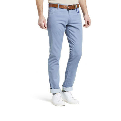 Meyer M5 Slim Summer Tricotine Five-Pocket Jeans Pale Blue