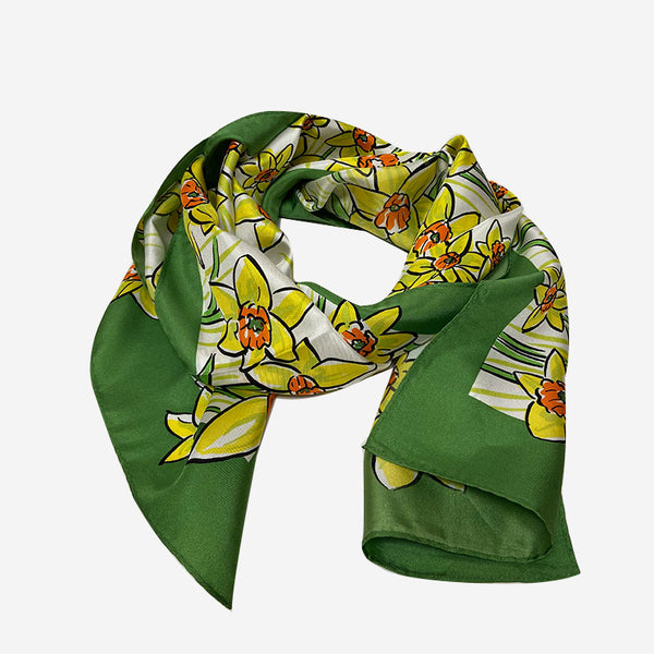 Red Hook Silk Daffodil Scarf