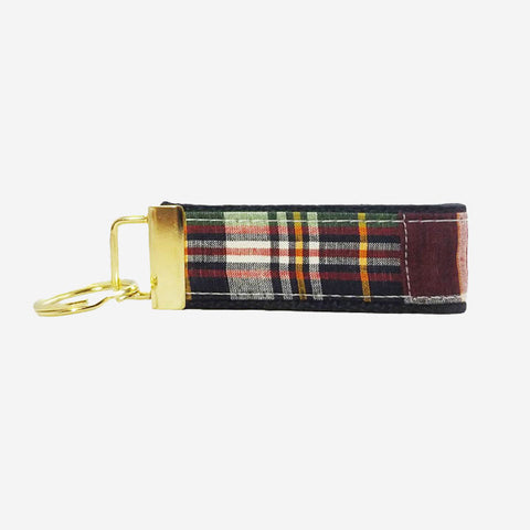YRI Navy Madras Key Fob