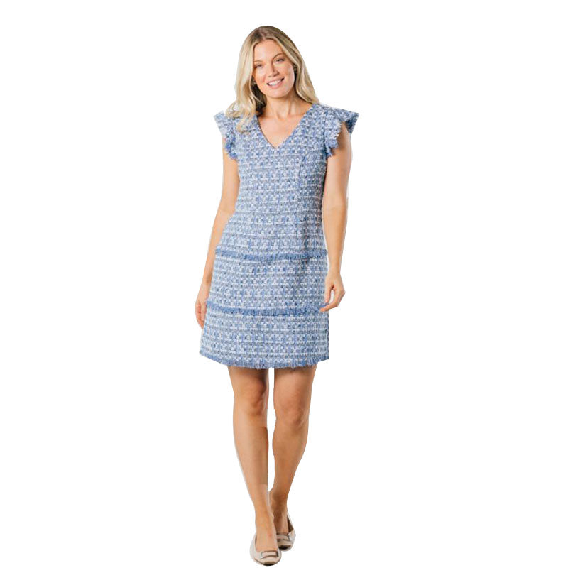 Sail to Sable Fit & Flare Dress Blue Multi