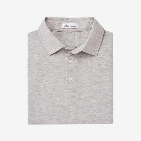 "Peter Millar Mens Can Soft ""Bellevue"" Pique Polo British Grey"