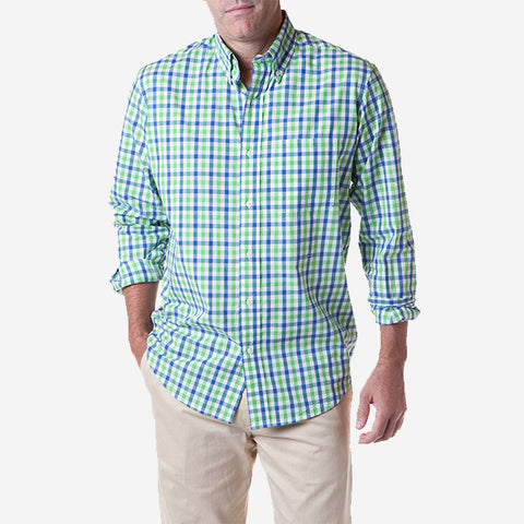 Castaway Chase Shirt - Harbor Check Green