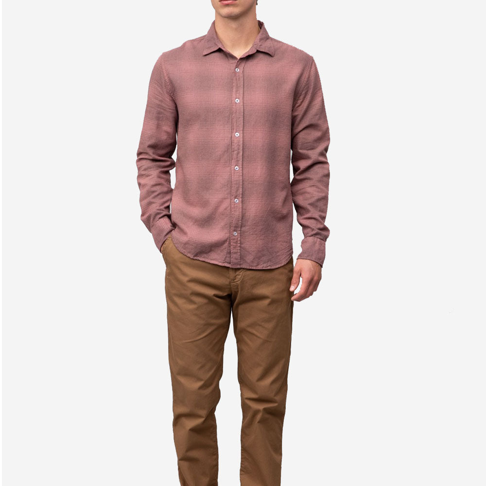 Save Khaki United Heather Plaid Flannel Easy Work Shirt Nutmeg