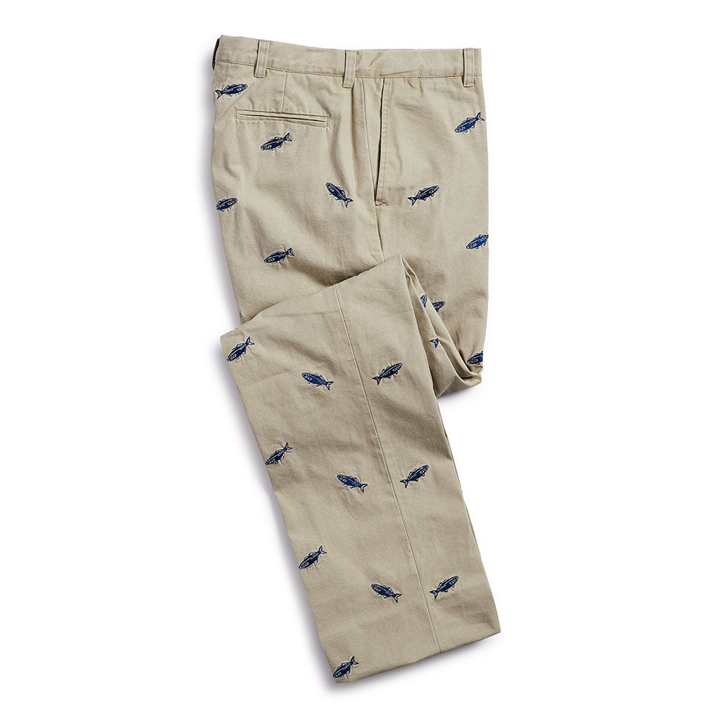 Nantucket Reds Collection™ Men's Embroidered Whale Pants Khaki