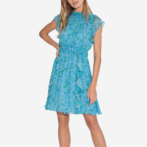Shoshanna Amora Dress Blue Green Multi