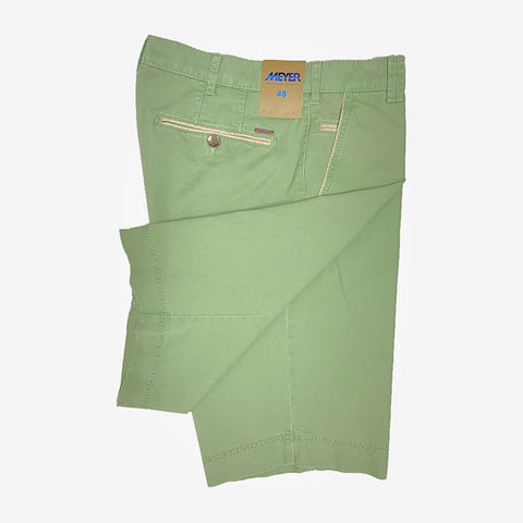 Meyer B-Palma Cotton Stretch Bermuda Shorts Soft Green