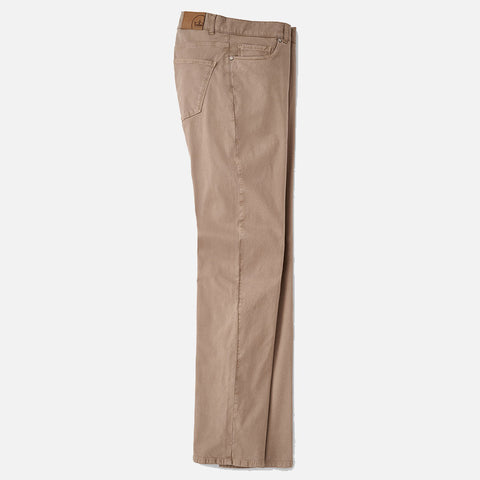Peter Millar Collection Wayfare Knit Five-Pocket Pant Khaki