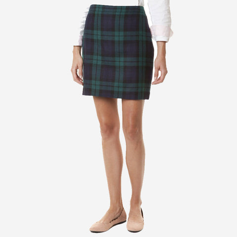 Castaway Ali Wool Skirt Blackwatch