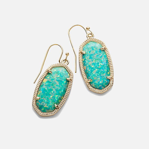 Kendra Scott Dani Drop Earrings In Aqua Kyocera Opal