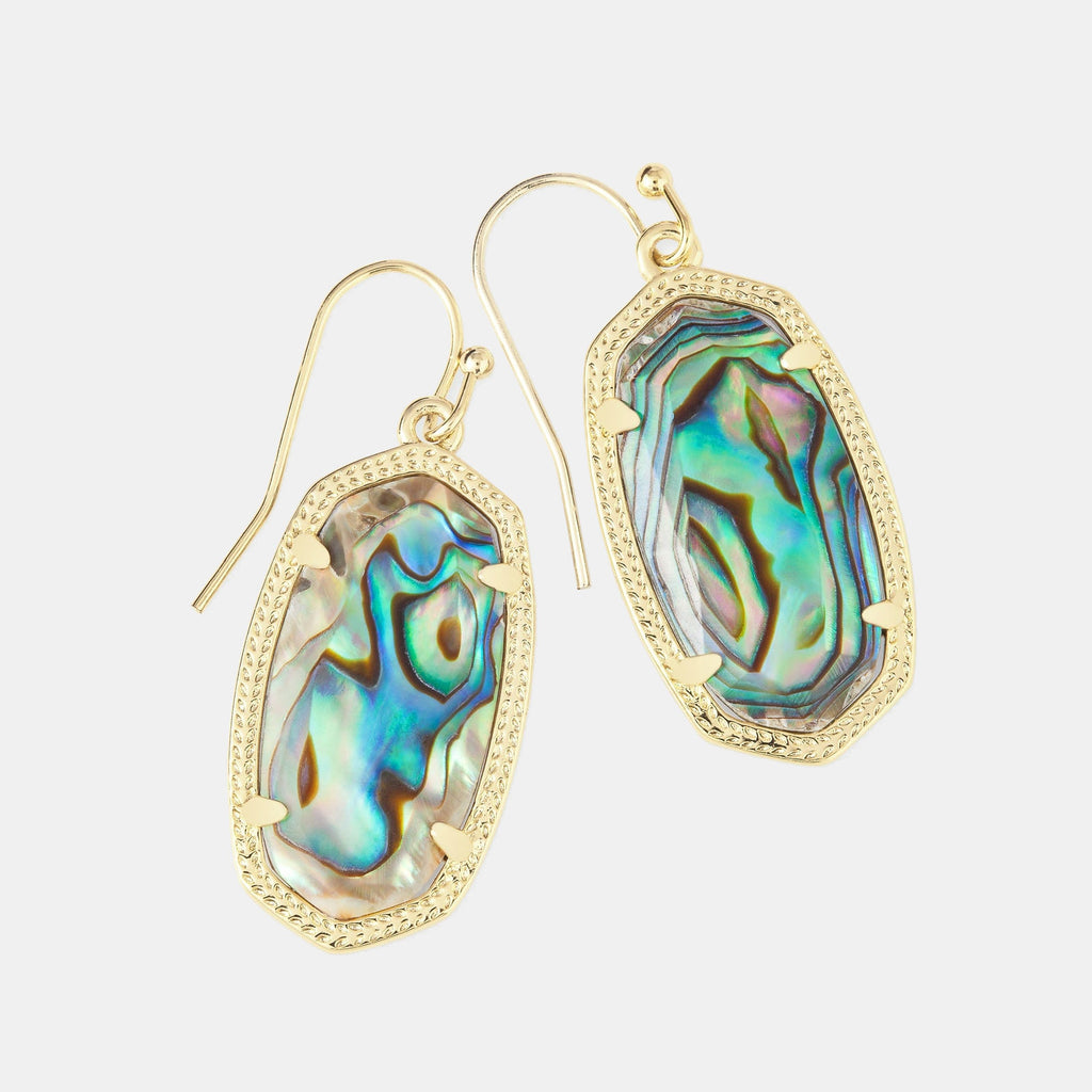 Kendra Scott Dani Gold Drop Earrings In Abalone Shell