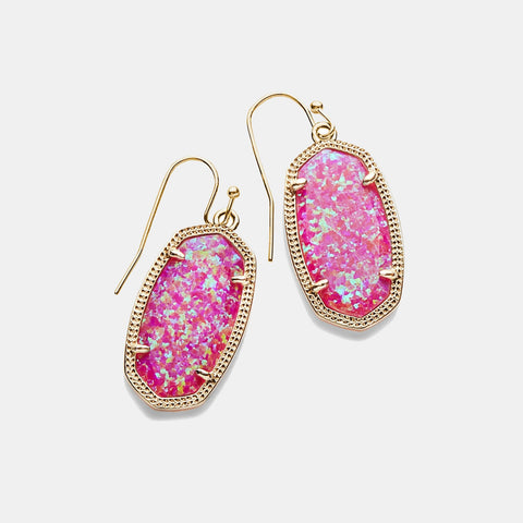 Kendra Scott Dani Drop Earrings In Fuchsia Kyocera Opal
