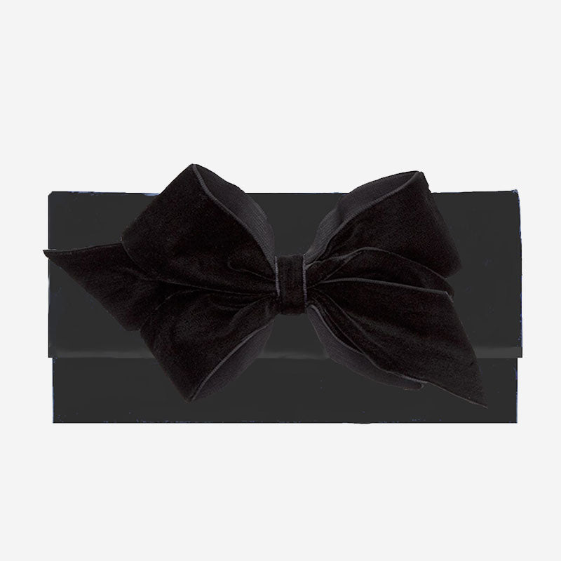 Peachy Pendants Cambridge Clutch Black with Black Velvet Bow