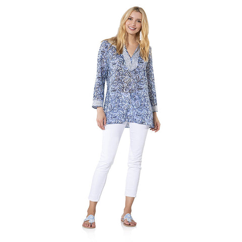 Sail to Sable Long Sleeve Tunic Top Monkey Print