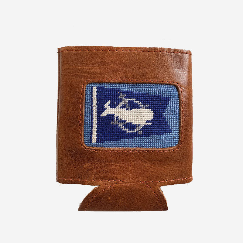 Smathers & Branson Burgee Can Cooler Stream Blue