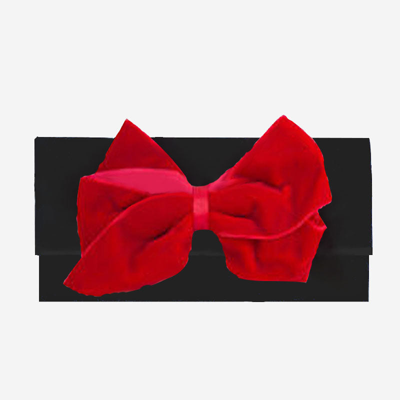 Peachy Pendants Cambridge Clutch Black with Red Velvet Bow