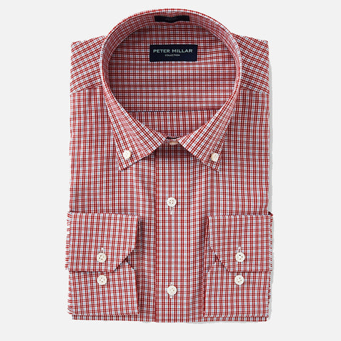 Peter Millar Collection Wintertime Check Sport Shirt Rubino