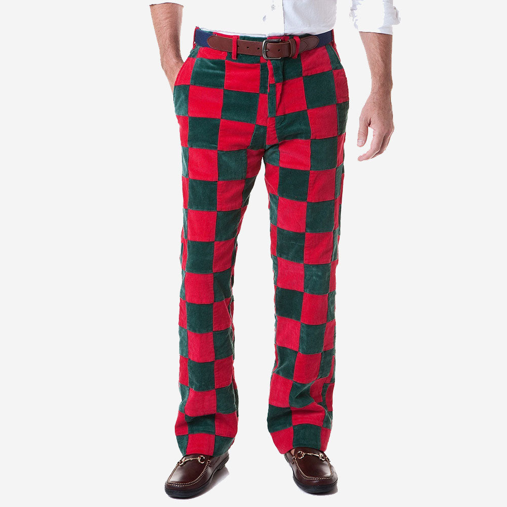 Castaway Beachcomber Corduroy Patchwork Pant Hunter & Crimson