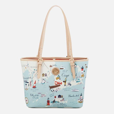 Spartina 449 Map Small Tote - Northeastern Harbors