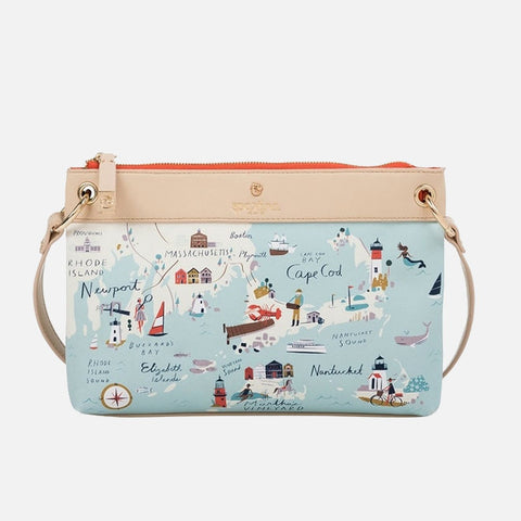 31044d5047cf7 Sold Out Spartina 449 Map Crossbody - Northeastern Harbors