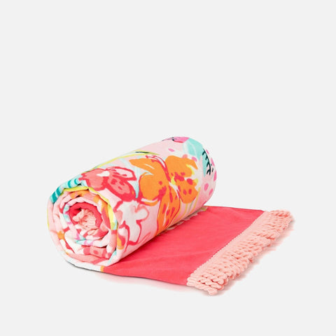 Spartina 449 Retreat Beach Towel - Flamingo Floral
