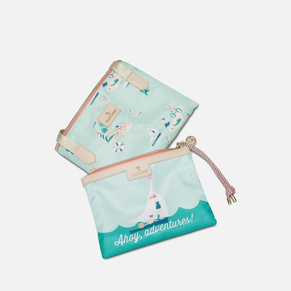 Spartina 449 Packable Tote & Wristlet - Ahoy