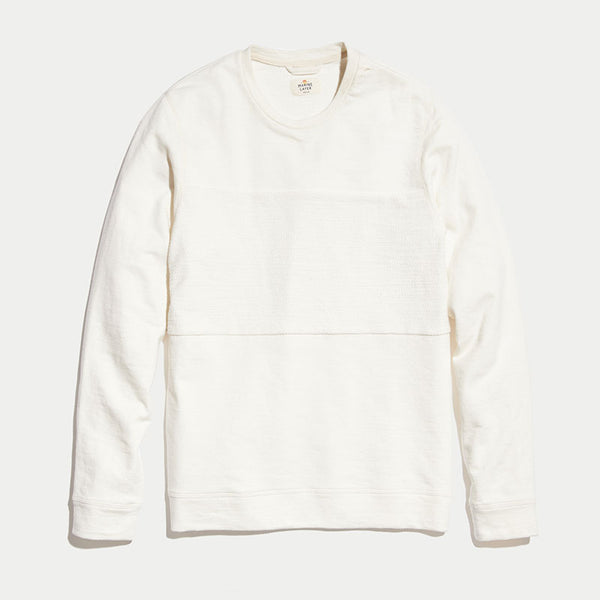 Marine Layer Montford Crewneck Sweatshirt Natural