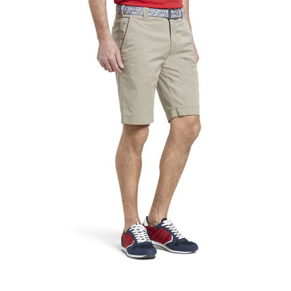Meyer B-Palma Pima Cotton Bermuda Shorts Stone