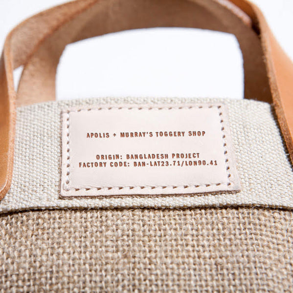 Apolis Nantucket Market Bag With Long Handles - Natural