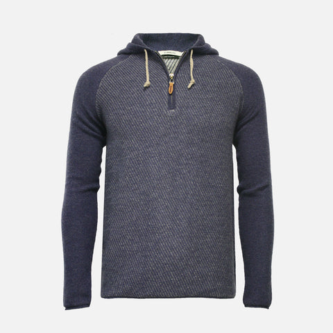 Hommard Aspen Hooded Cashmere Sweater - Jeans Grey