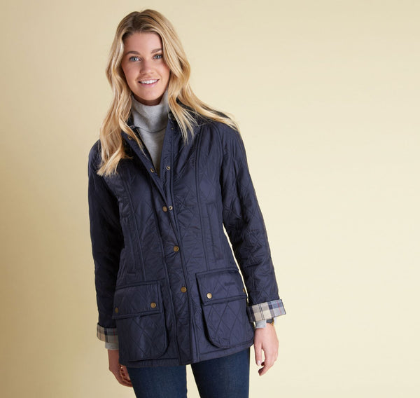 Barbour Beadnell Polar Quilt Jacket Navy