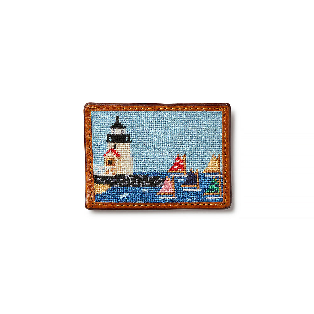 Smathers & Branson Brant Point Rainbow Fleet Needlepoint Card Wallet