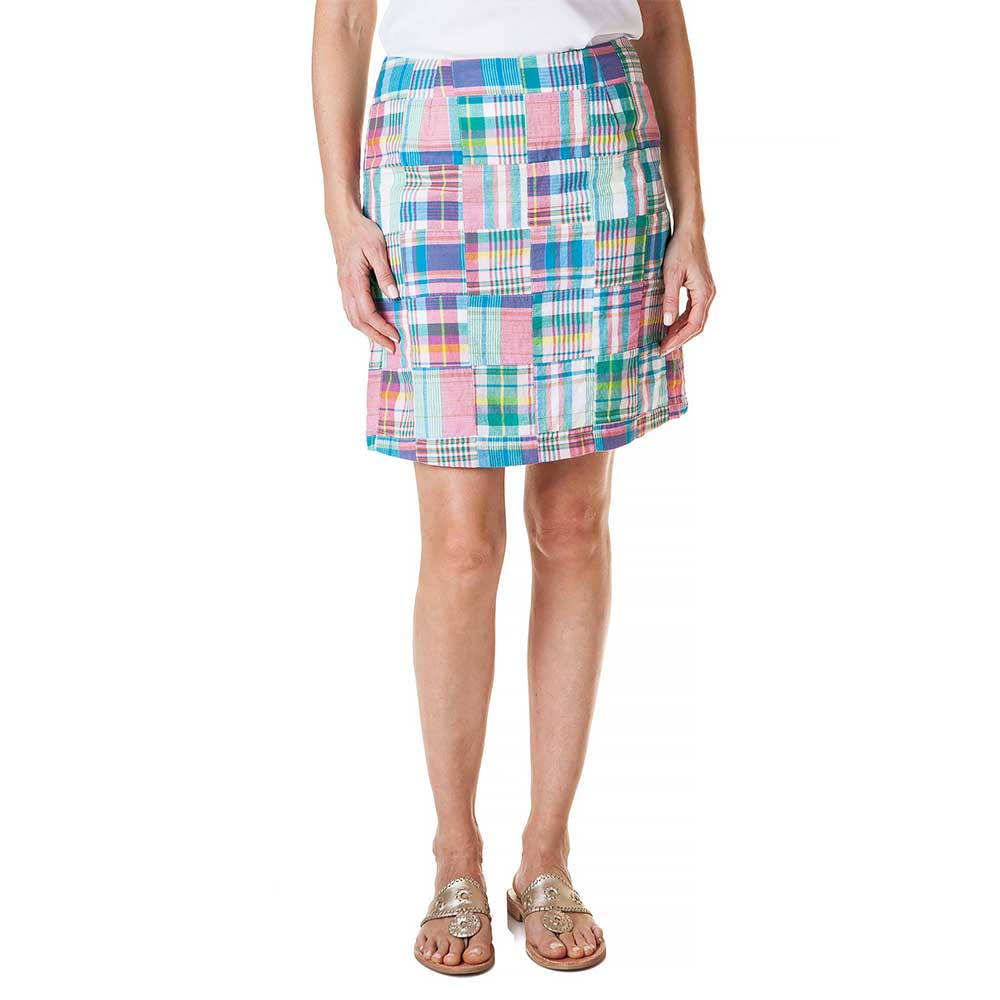 Castaway Ali Skirt Chatham Patch Madras