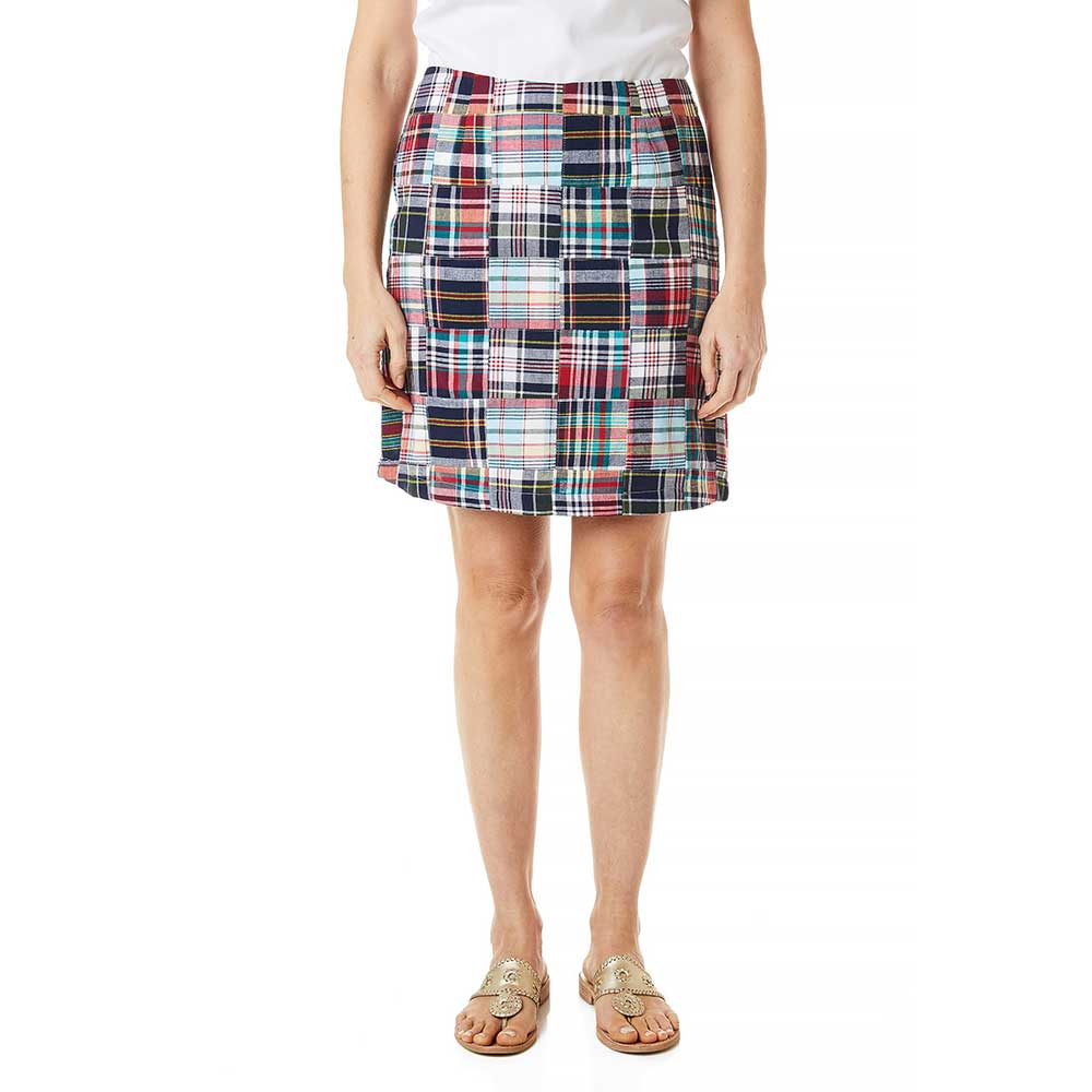 Castaway Ali Skirt Sconset Patch Madras