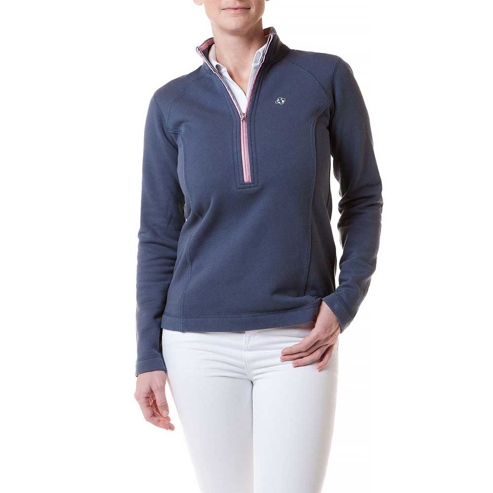 Castaway Ladies Breakwater Zip Nantucket Navy Pink Trim
