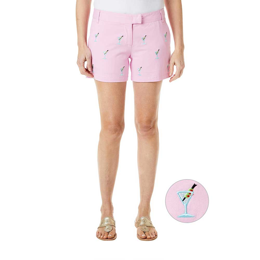Castaway Sailing Short Stretch Twill Pink with Martini