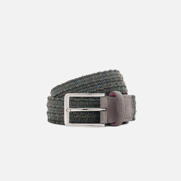 Beltology Flora Men's Designer Belt - Green/Grey
