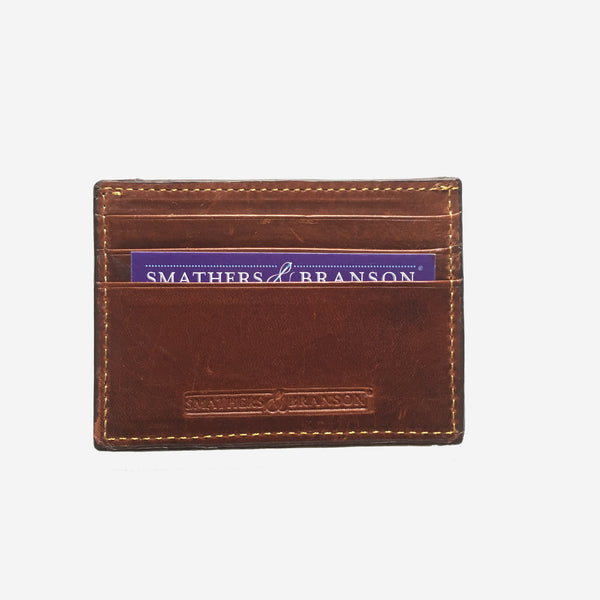 Smathers & Branson ACK Needlepoint Card Wallet - Red
