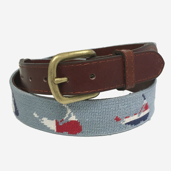 Smathers & Branson Nantucket Nautical Needlepoint Belt