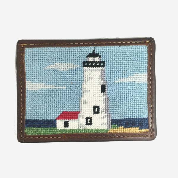 Smathers & Branson Great Point Needlepoint Card Wallet