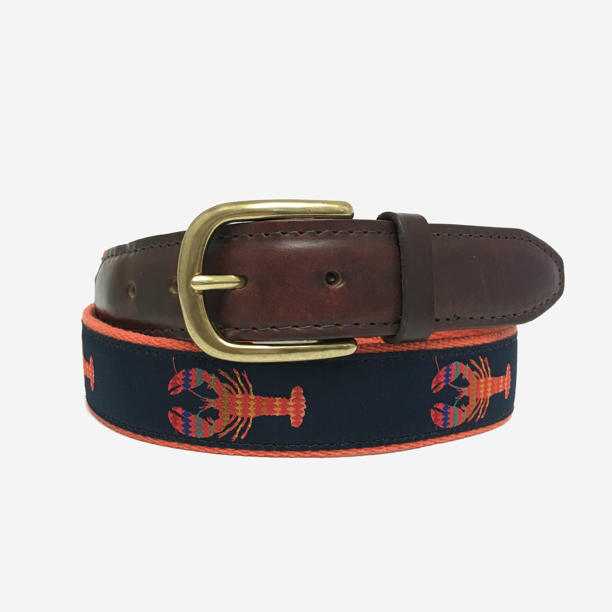YRI Men's Ribbon Belt - Funky Lobster
