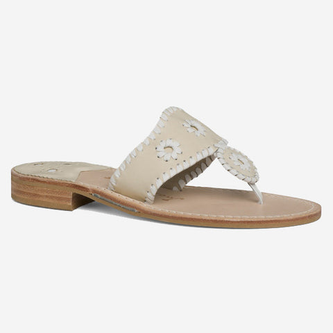 Jack Rogers Palm Beach Sandal - Bone/White