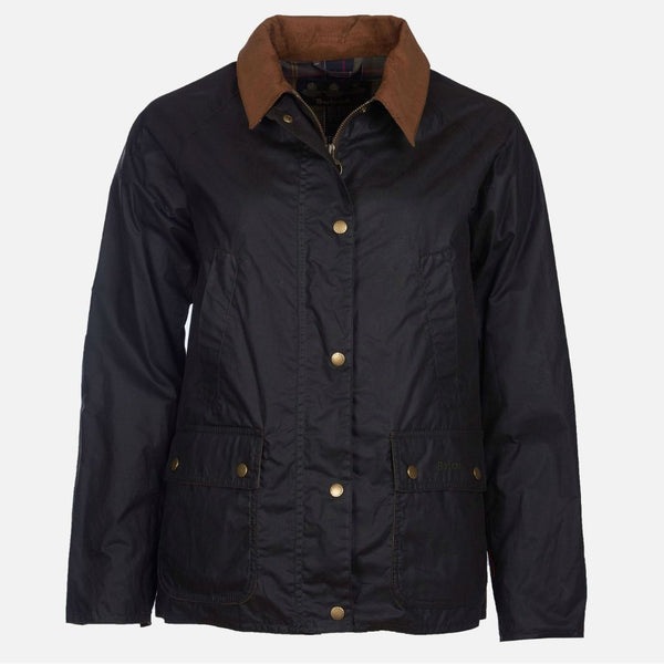 Barbour Lightweight Acorn Wax Jacket - Navy
