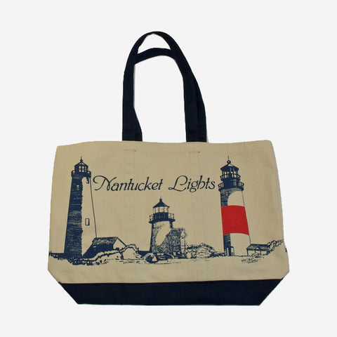 Lighthouse Boat Tote - Navy